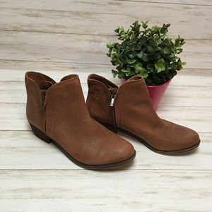 Lucky Brand Brown Suede Ankle Boots Size 9